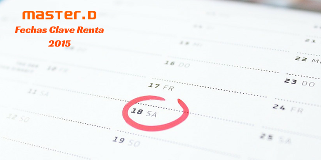 renta 2015 fechas