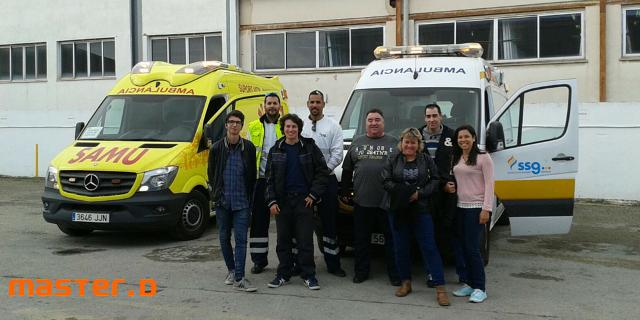 Excursión a las ambulancias SSG en MasterD Mallorca