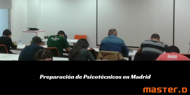 Taller psicotécnicos en MasterD Madrid