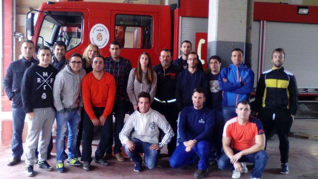 Masterd Jaén en el parque de bomberos