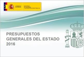 presupuestos generales estado 2016