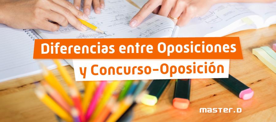 Diferencias oposición y concurso-oposición