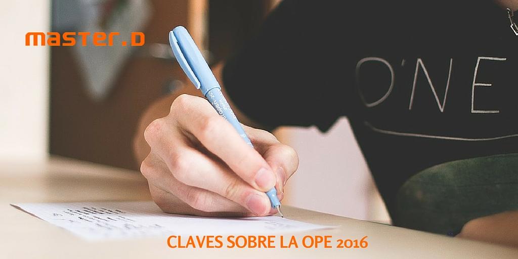 6 claves para entender la OPE 2016
