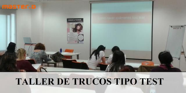 exámenes tipo test en MasterD Madrid