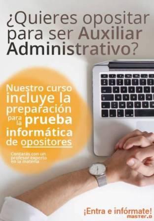pruebas oposiciones auxiliar administrativo