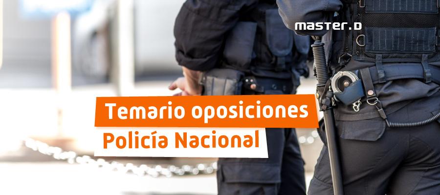 Temario Policía Nacional MasterD