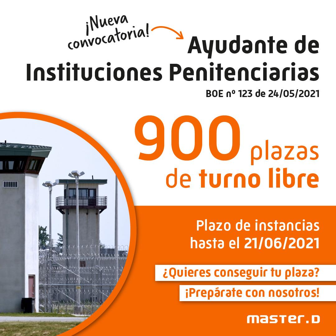 Convocatoria ayudante instituciones penitenciarias