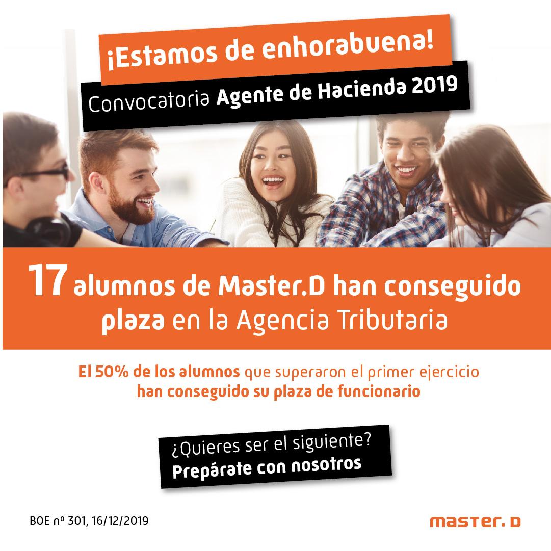 Aprobados MasterD Oposiciones Agente Hacienda