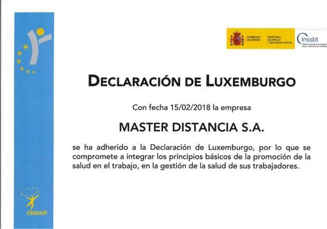 masterd declaracion de Luxemburgo