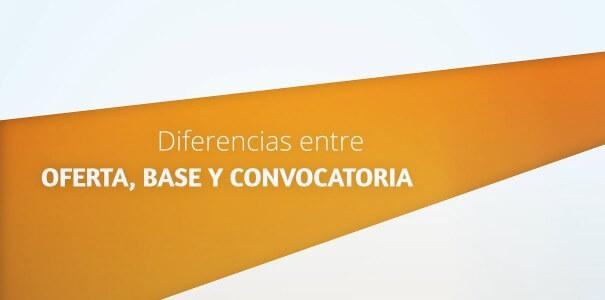 Oposiciones, diferencia entre oferta, convocatoria y bases