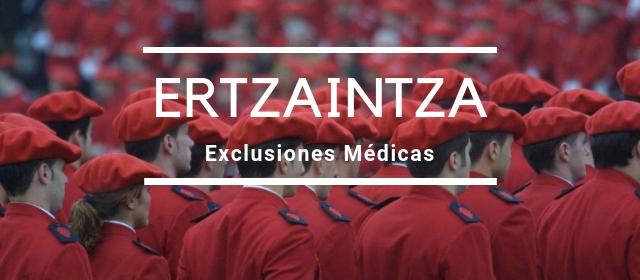 Exclusiones Médicas Oposiciones Ertzaintza
