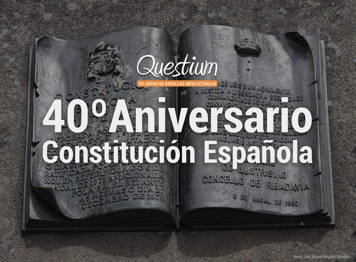 Juego 40º aniversario Constitución Española