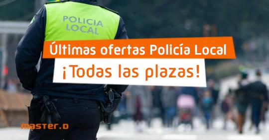 Plazas Policía Local españa