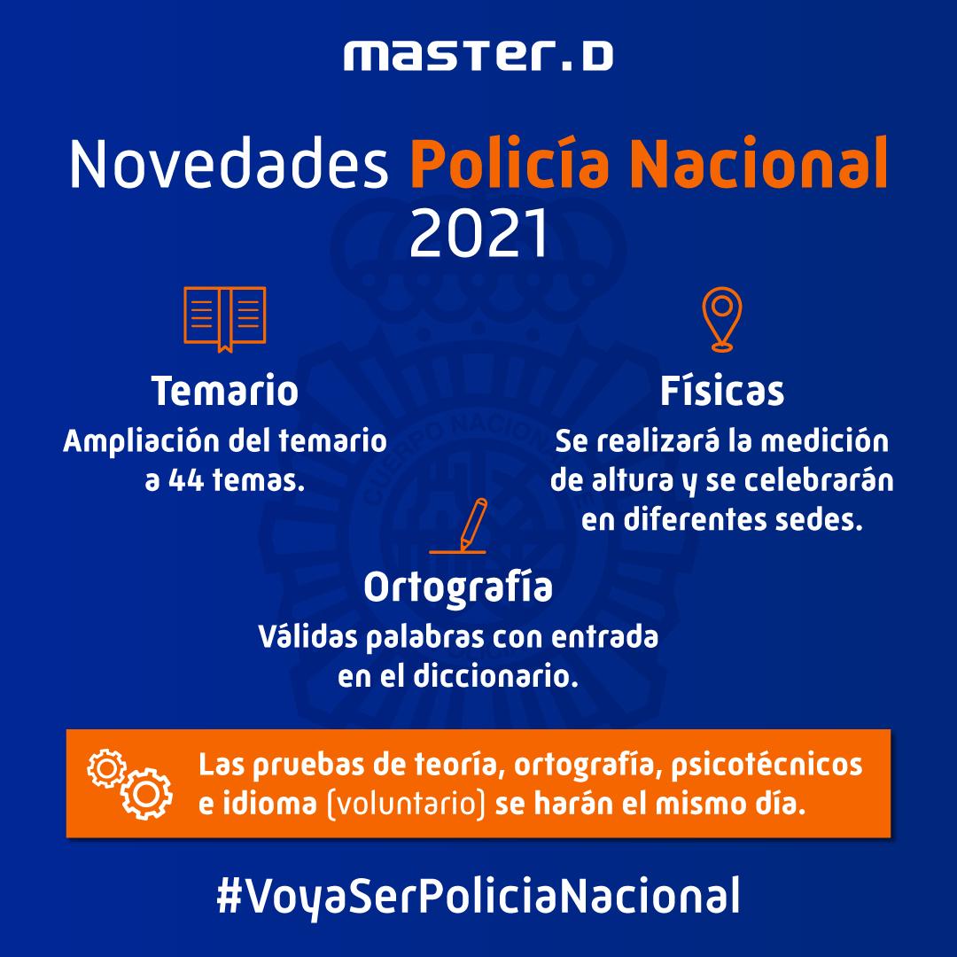 novedades oposiciones policía 2021