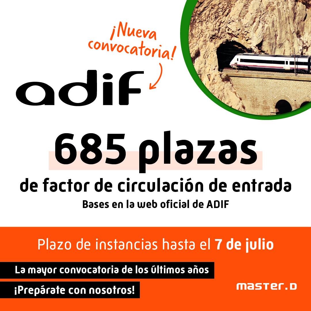 Oposiciones Factor Circulación ADIF