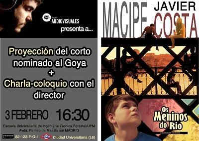 Cine fórum con Javier Macipe, director nominado a los Goya