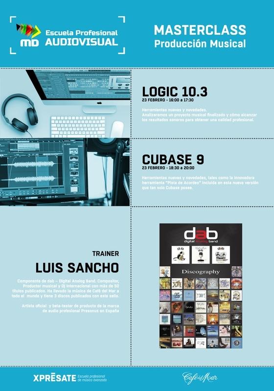 Masterclass de Producción Musical en MasterD Madrid