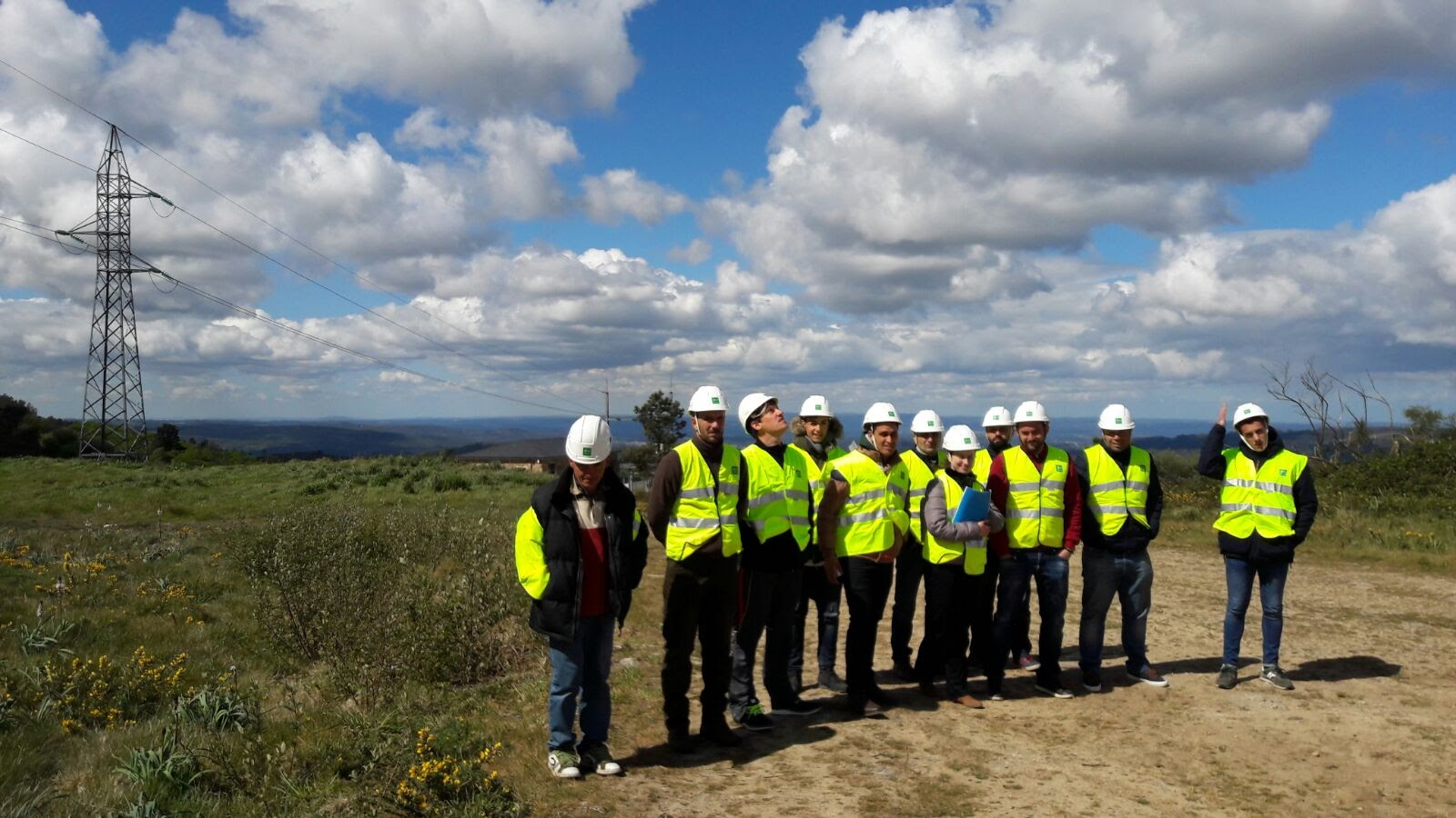 Visita al Parque eólico Touriñán- MasterD Vigo