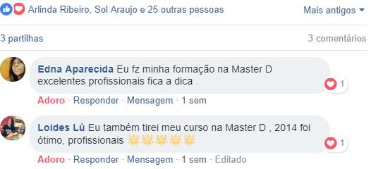 Opiniões acerca dos cursos Master D
