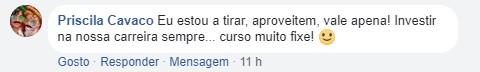 Opinião da Priscila Cavaco acerca da Master D
