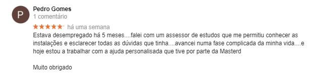 Opinião de Pedro Gomes acerca da Master D Lisboa