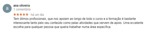 Opinião de Ana Oliveira acerca da Master D Lisboa