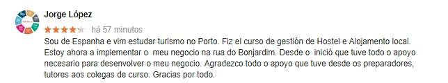 Opinião acerca do centro de formação Master D Porto