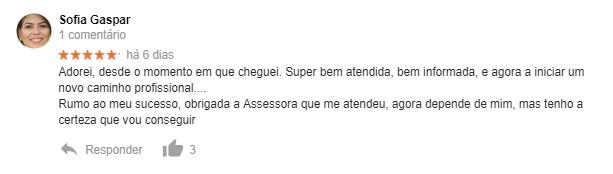 Opinião de formanda acerca da Master D Porto