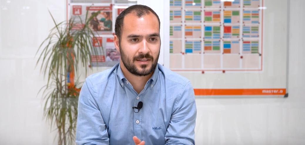 Cláudio Mira, Formando do Curso de Assistente Administrativo e Financeiro da Master D
