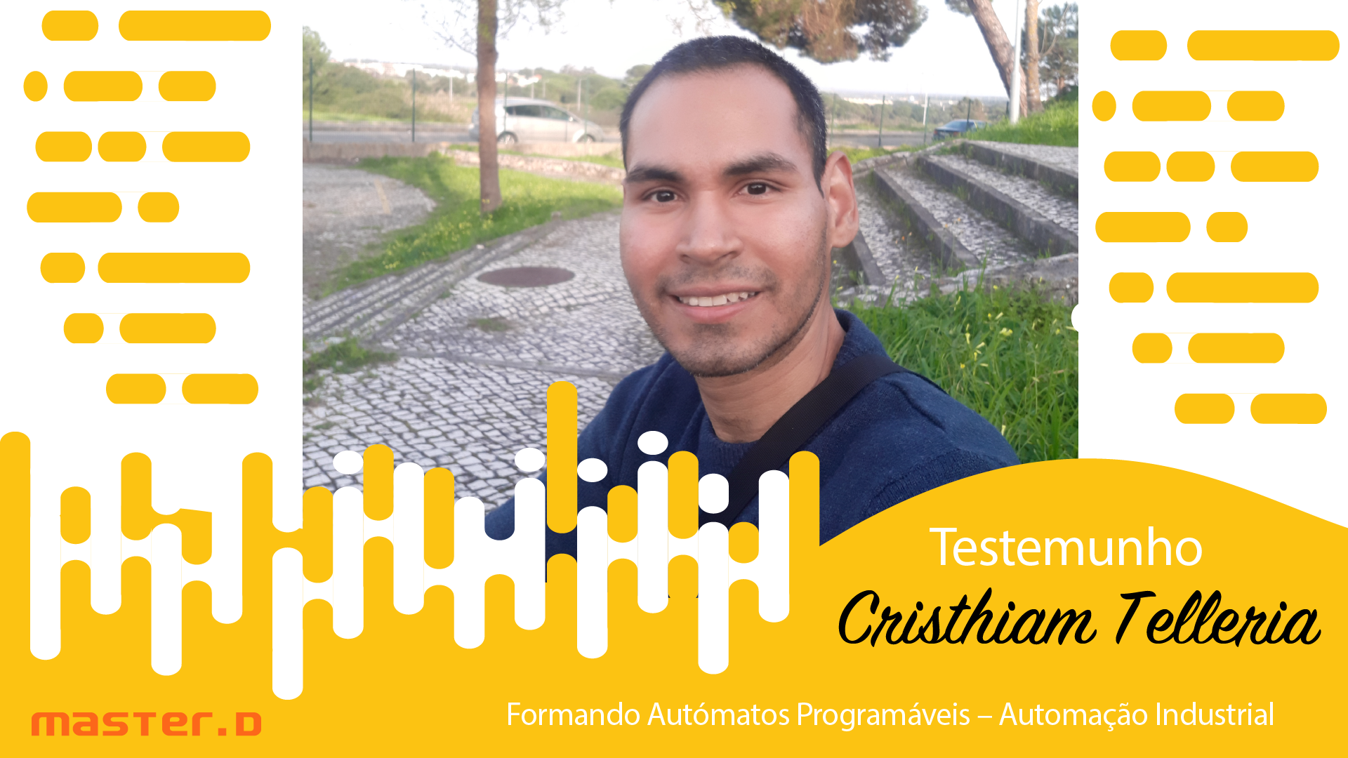 Cristhiam Telleria - Formando do Curso de Autómatos Programáveis - Automação Industrial