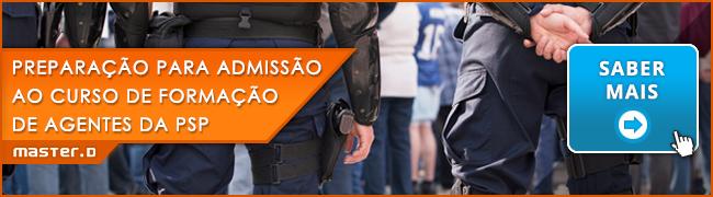 Preparação para Admissão ao Curso de Formação de Agentes da PSP – Banner