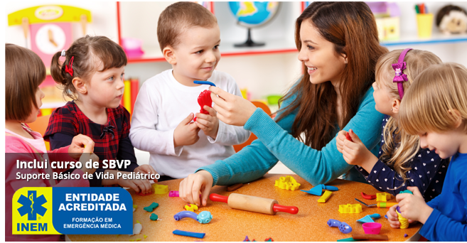 Curso de Auxiliar de Educação Infantil e Babysitting