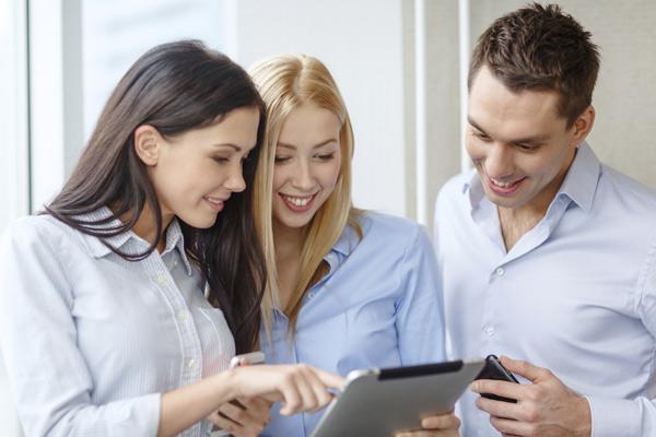 Grupo a utilizar um tablet