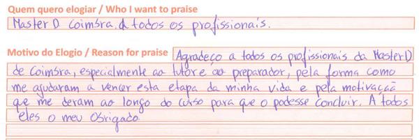 Comentário sobre Master D - Coimbra