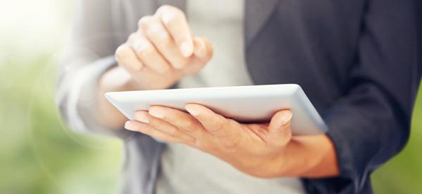 Webinar a partir de um tablet
