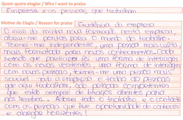 Opinião recebida em maio - Coimbra