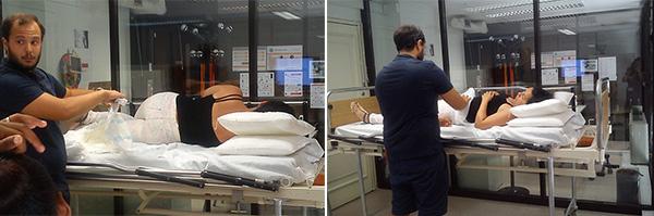 Auxiliar- de Saúde e Auxiliar de Geriatria – Sessão Prática colocação fraldas - exemplo