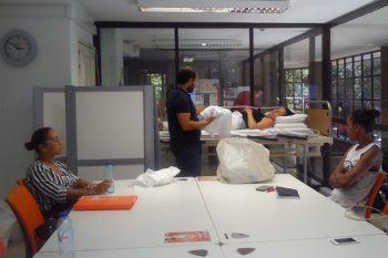 Auxiliar de Saúde e Auxiliar de Geriatria – Sessão Prática colocação fraldas - grupo