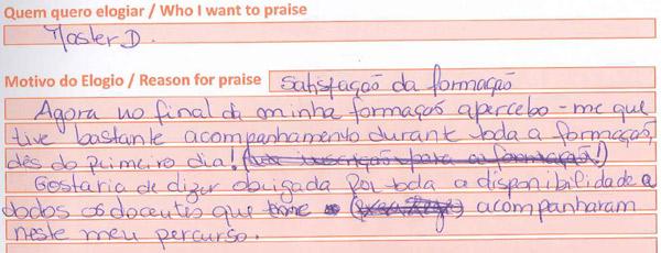 Formando Master.D de Lisboa deixa opinião sobre o Curso Auxiliar de Saúde