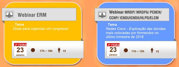 Webinars – Calendário de Janeiro 09
