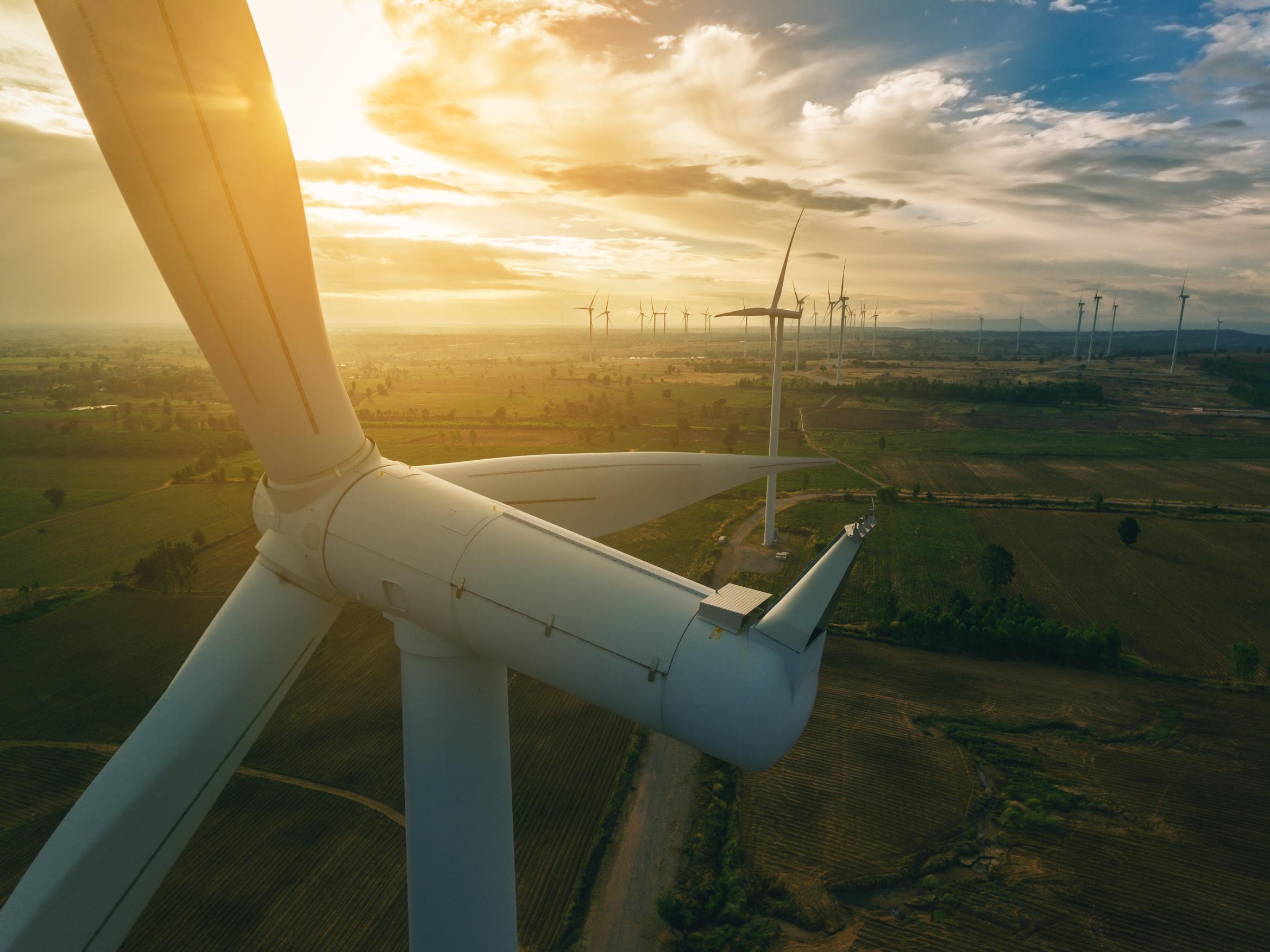 A energia eólica contribui com 65% da energia produzida durante estas 69 horas