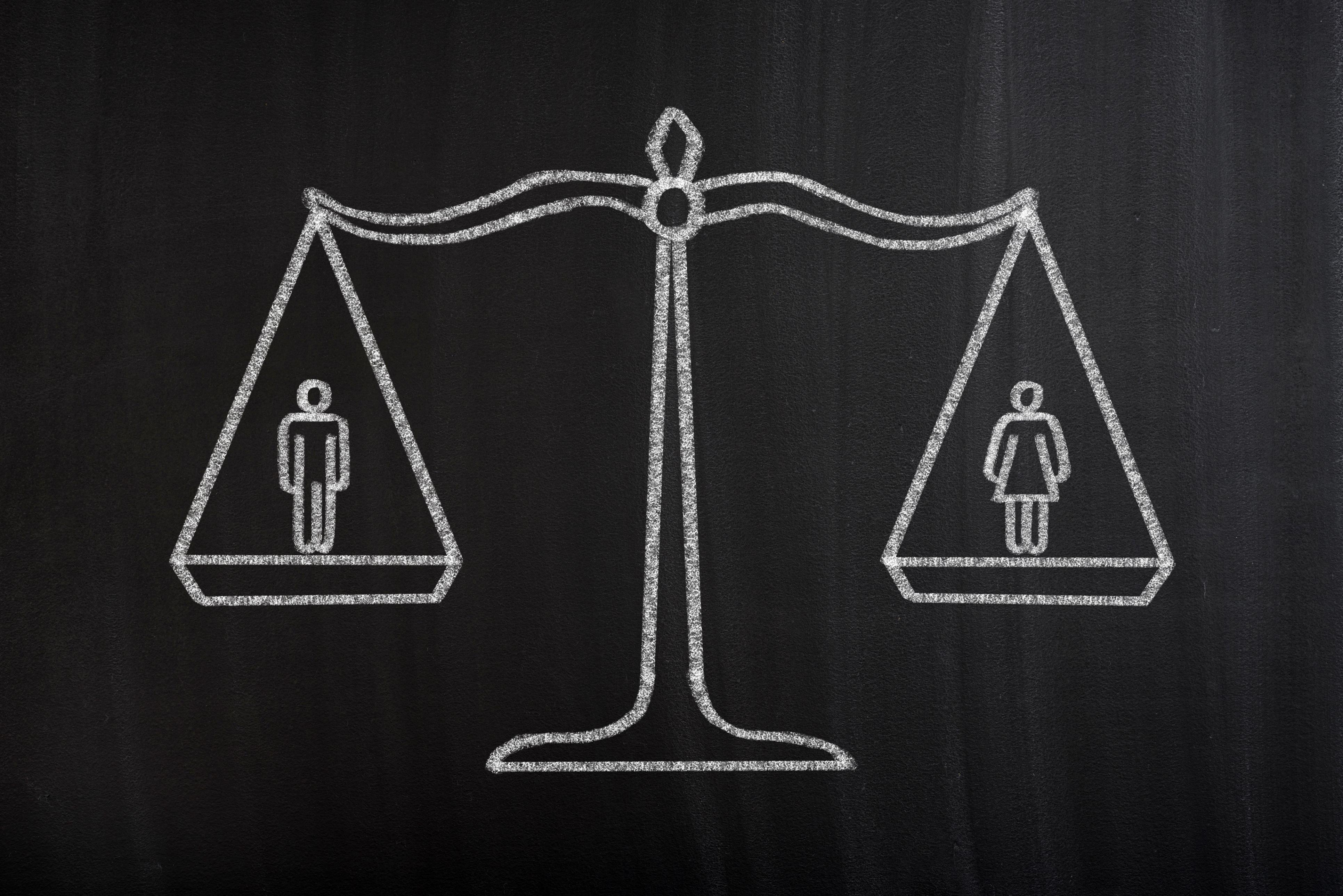 Balança que equilibra os dois géneros