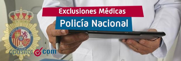 Exclusiones médicas Policía Nacional