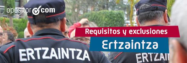 Requisitos Oposiciones Ertzaintza