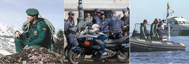 Oposiciones Policía Nacional y Guardia Civil: Más de 5.000 plazas en 2017