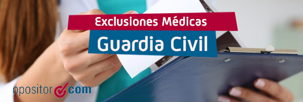 exclusiones medicas guardia civil