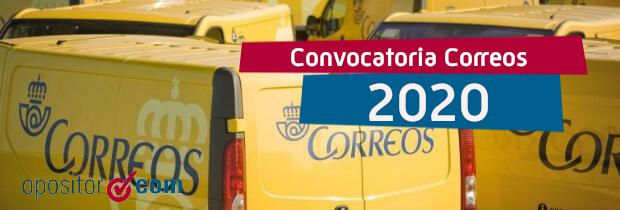 Plazas Correos 2020