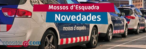 Novedades en las oposiciones de Mossos d'Esquadra