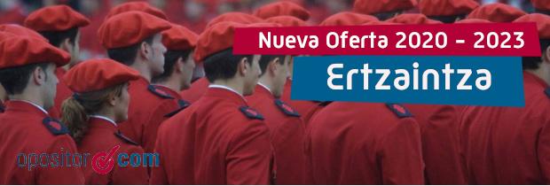 Futuro de las oposiciones de Ertzaina: anunciadas cuatro nuevas ofertas