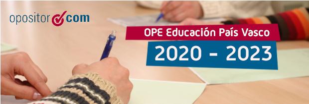 Nuevas OPE de Educación en Euskadi hasta 2023
